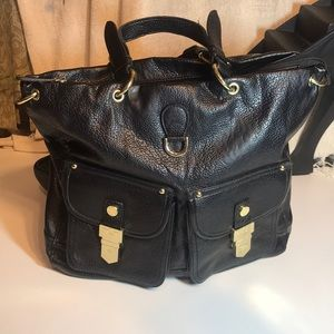STEVE MADDEN Black man made leather Tote